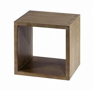 Meuble Cube But : meuble vasque melamin teck cube ~ Teatrodelosmanantiales.com Idées de Décoration