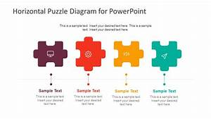 Horizontal Puzzle Diagram For Powerpoint