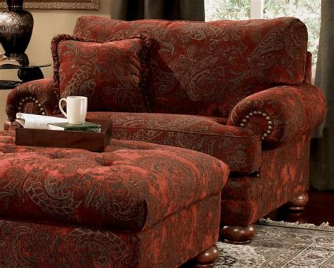 oversized chairs with ottoman overstuffed floral chair overstuffed chairs and ottomans design - Overstuffed Sofas And Chairs