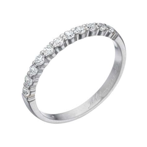 memoire diamond white gold womens wedding band king
