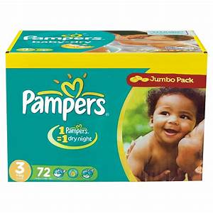 Pack 72 Couches Pampers Baby Dry NightTaille 3 Midi 4 7