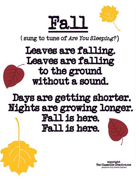 fall poem song for preschool kindergarten grade 723 | a2fe2b63205dc31e883efc23ea022b74