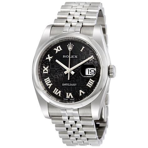 Rolex Datejust 36 Black Dial Stainless Steel Jubilee ...