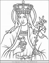 Coloring Heaven Queen Lady Pages Mary Catholic Thecatholickid Printable Mother Saint Jesus Blessed Bible Printables Tattoo Sheets sketch template