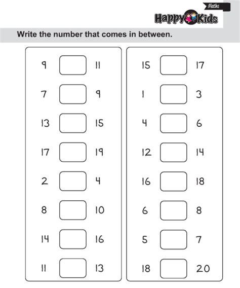 kindergarten maths number