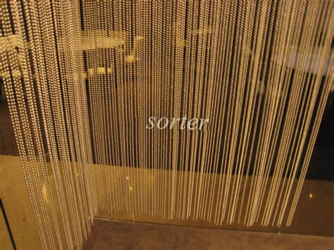 shimmering metal chain screen metal bead curtain room