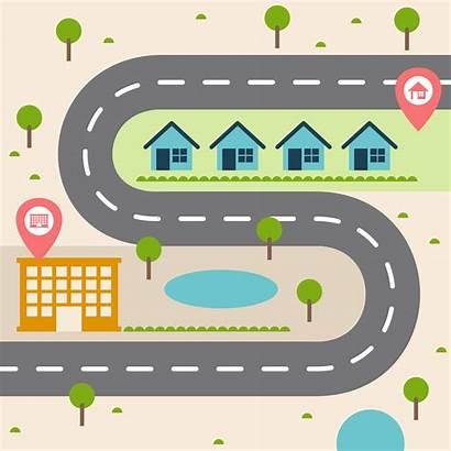 Map Road Illustration Vector Roadmap Read Simple