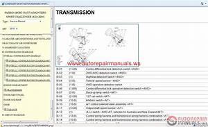 Mitsubishi Pajero Sport 2010 Service Manual