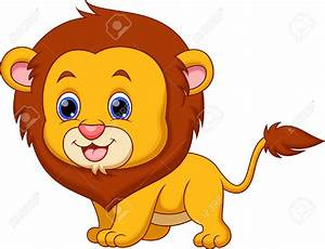 Cute Baby Lion Clipart - ClipartXtras