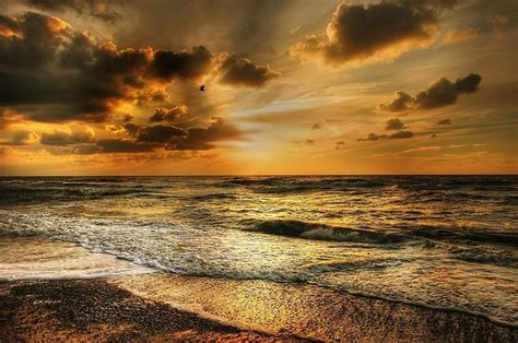 photo beach coast denmark dramatic sky north sea