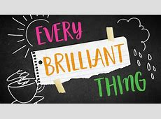 Every Brilliant Thing Portland Center Stage at The Armory