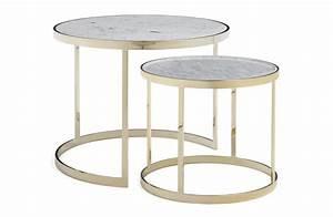 Table Gigogne Marbre : table basse gigogne marbre de carrare amerigo milano ~ Teatrodelosmanantiales.com Idées de Décoration