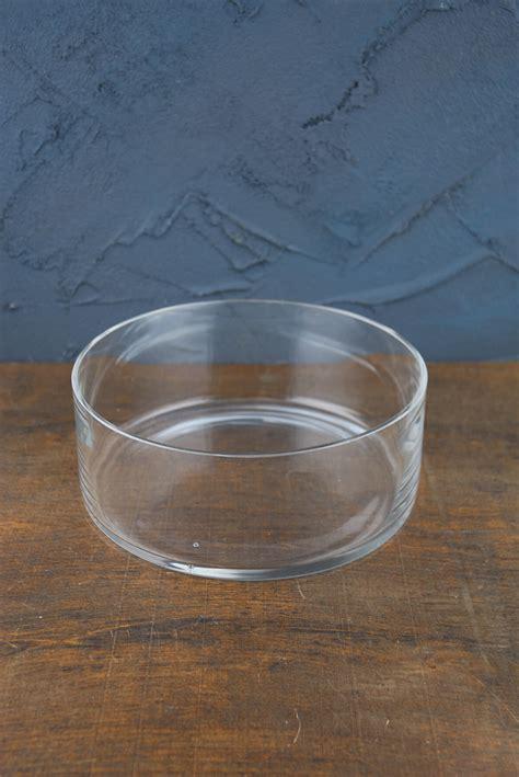 clear glass  terrarium dish