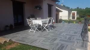 Pose De Dalle 40x40 Sur Sable : dalle siena carrelage ext rieur 2 cm gris effet bois ~ Melissatoandfro.com Idées de Décoration