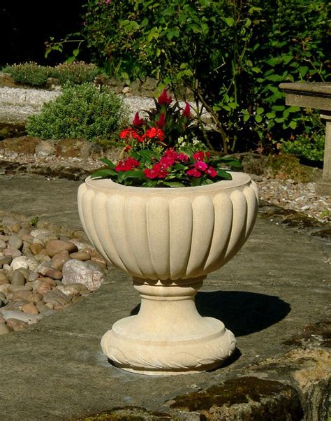 large outdoor planters clarence plant urn large garden planter s s shop