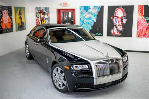 roll royce ghost rolls royce ghost series ii black white miami exotics