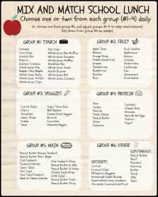 Healthy School Lunch Ideas List