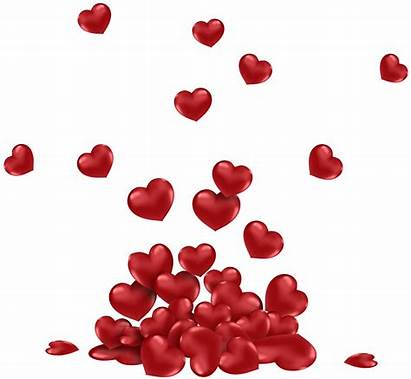 Hearts Falling Transparent Clipart Valentines Webstockreview Places