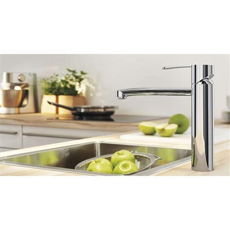 robinets cuisine grohe wave robinet de cuisine chrome 31316000