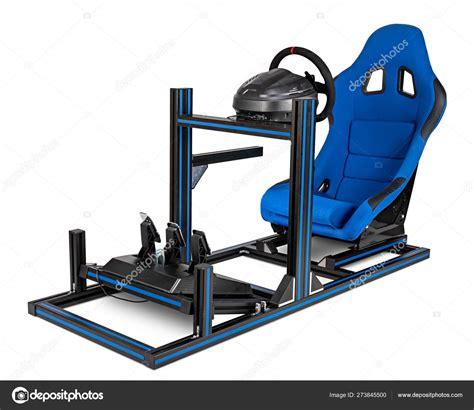 diy simracing aluminum race simulator rig  video game