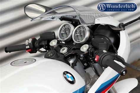 Modification Bmw R Nine T Racer by Wunderlich Transformation De Guidon Multiclip Pour La