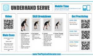 Volleyball Underhand Serve