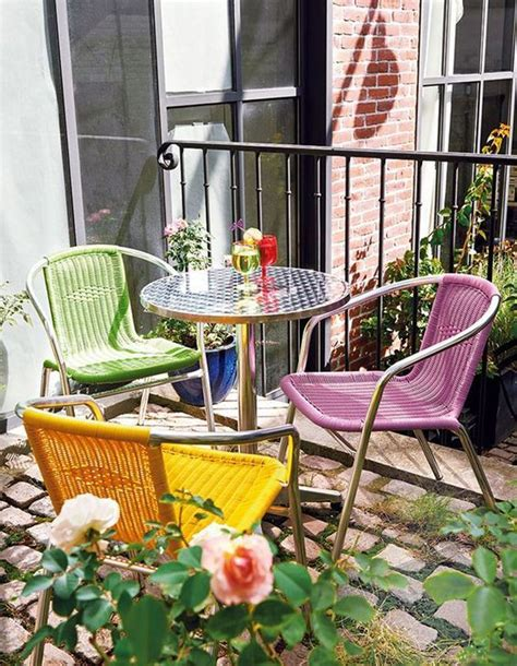 idees pour amenager  petit balcon elle decoration