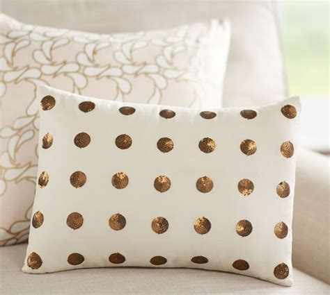 Dot Beaded Pillow Cover Pottery Barn by Anza Sequin Dot Pillow Pottery Barn