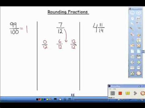 Rounding Fractions Youtube