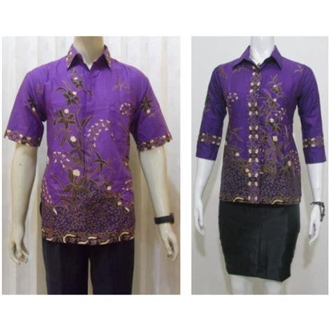 model batik pasangan hem blus untuk baju seragam batik