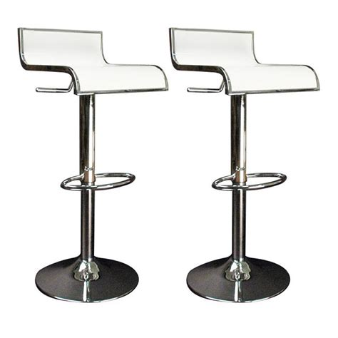 tabouret bar cuisine tabourets de bar cuisine blanc waves lot de 2 achat