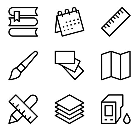 stationery icon packs vector icon packs svg psd