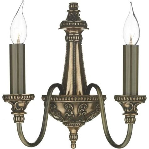 double insulated wall sconce in rich bronze regency period wall light