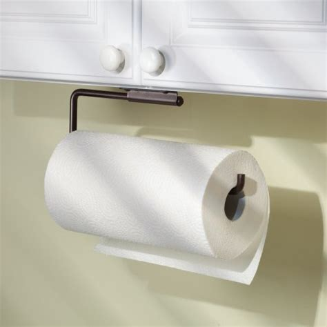 under cabinet towel holder interdesign swivel kitchen paper towel holder wall mount