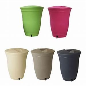 Recuperateur Eau Pluie : r cup rateur d 39 eau de pluie rond floral 300 litres taupe ~ Premium-room.com Idées de Décoration