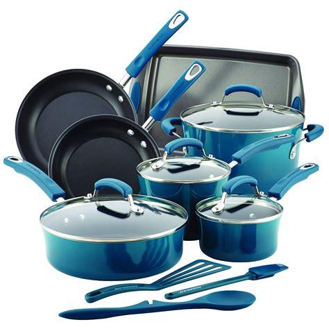 cookware ray rachael piece nonstick enamel marine hard porcelain pot kitchen amazon pots pans cooking sets cook rachel rollers rings