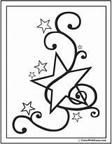 Coloring Star Pages Fancy Musical Stars Printable Pdf Colorwithfuzzy sketch template