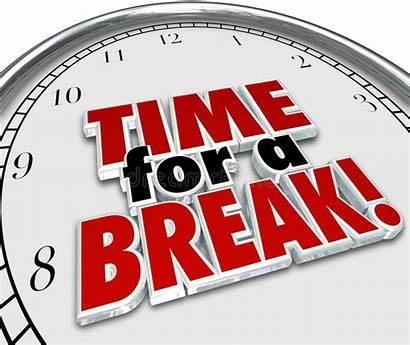 Break Clock Pause Words Interruption 3d Rest