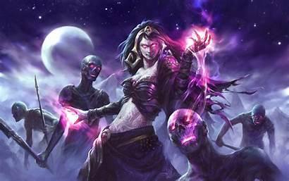 Magic Liliana Gathering Witch Fantasy Vess Zombies