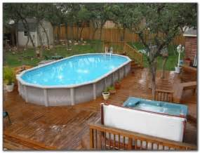 round above ground pool decks plans pools home