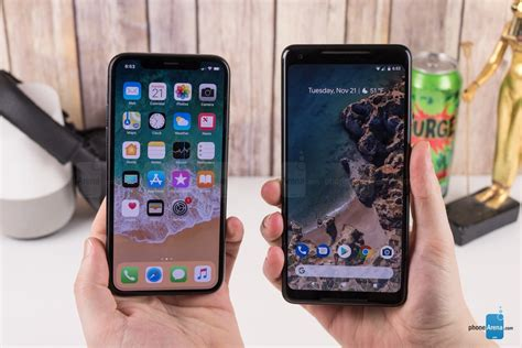 apple iphone x vs pixel 2 xl phonearena