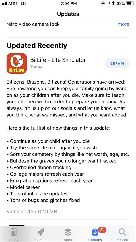 bitlife update ios comments bitlifeapp