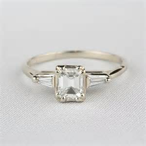 pre owned engagement rings pre owned emerald cut engagement ring