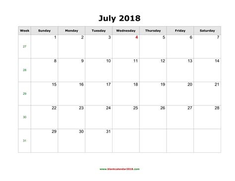 microsoft word calendar template 2018 blank calendar for july 2018
