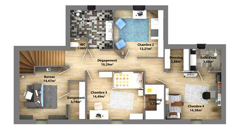 plan maison etage 4 chambres gratuit cuisine plans de maisons constructeur maison laure plan