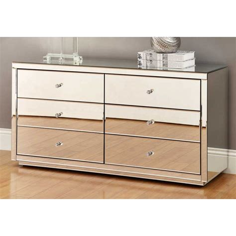 desk with drawers and mirror vegas mirrored 6 drawer dressing table or low chest mirror