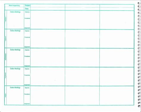 lesson plan book template sanjonmotel