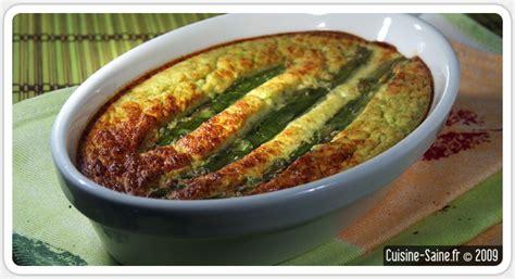 asperge cuisiner recette bio flan d asperges vertes cuisine saine