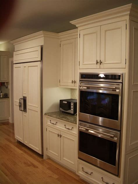double oven  microwave cabinet kitchen cabinet