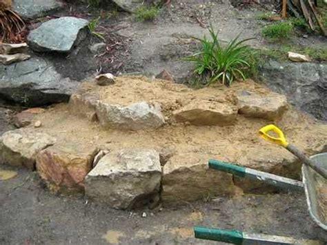 make rock making stone steps youtube